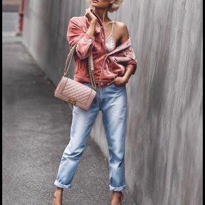 Pink Velvet Cotton Candy LA Jacket